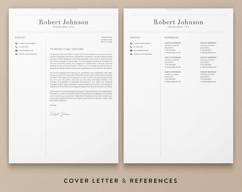 Resume Template One Page Cv Template Word Resume Template Marketing Engineer Resume CV Template With Photo Professional Resume Template