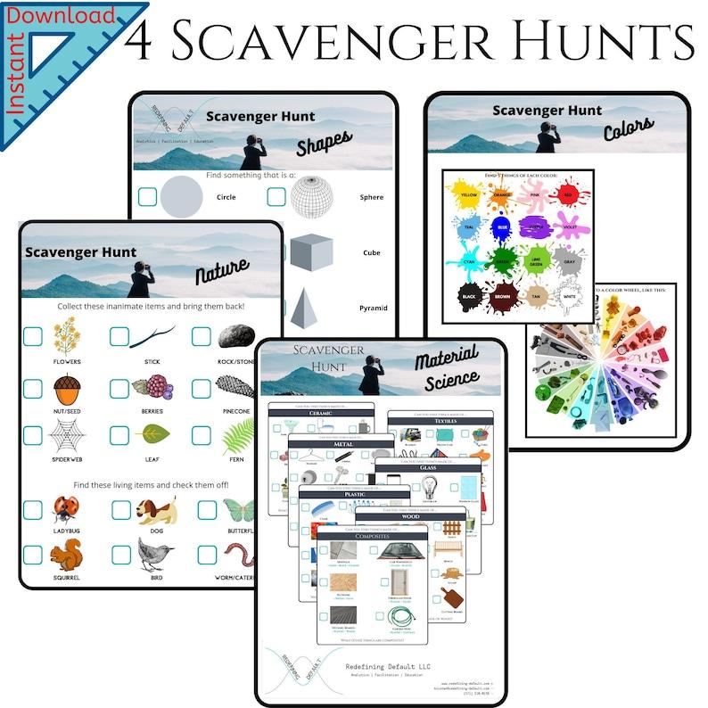 Pack of 4 STEM Scavenger Hunts  Beginner  Material Science  image 0