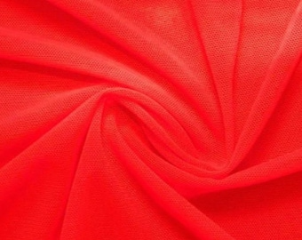 Light Stretchy Fabric for Dresses Red/_ 4 WAY Stretch Spandex Power Mesh Fabric By The Yard Soft And Fashion Show. Decorations