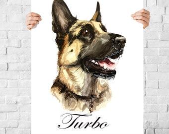 Pet portrait painting, Personalized pet portrait, Personalized dog custom portrait, Pet portrait from photo, Custom pet portrait painting
