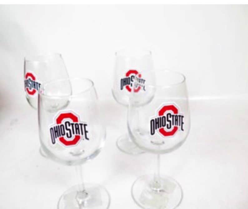 Ohio State Wine Glasses Set of 4 Super Bowl Playoffs must have