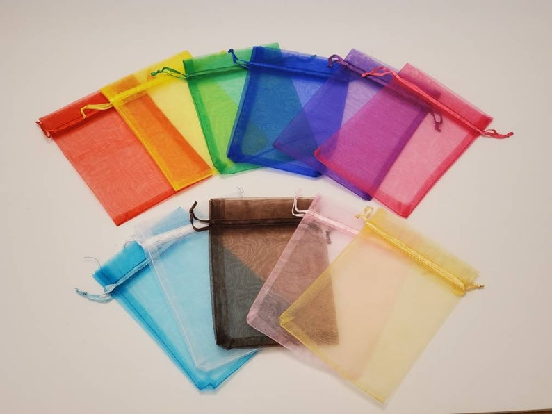 Crayon Party Favors in Organza Bags Sets of 10