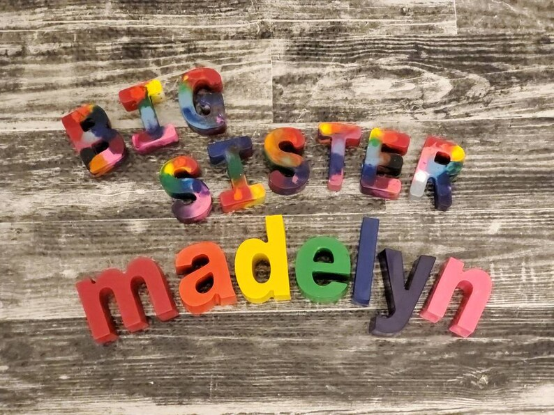 lower case name crayons Letter Crayons Alphabet Crayons Custom Birthday Gift Personalized Name Crayon Sets