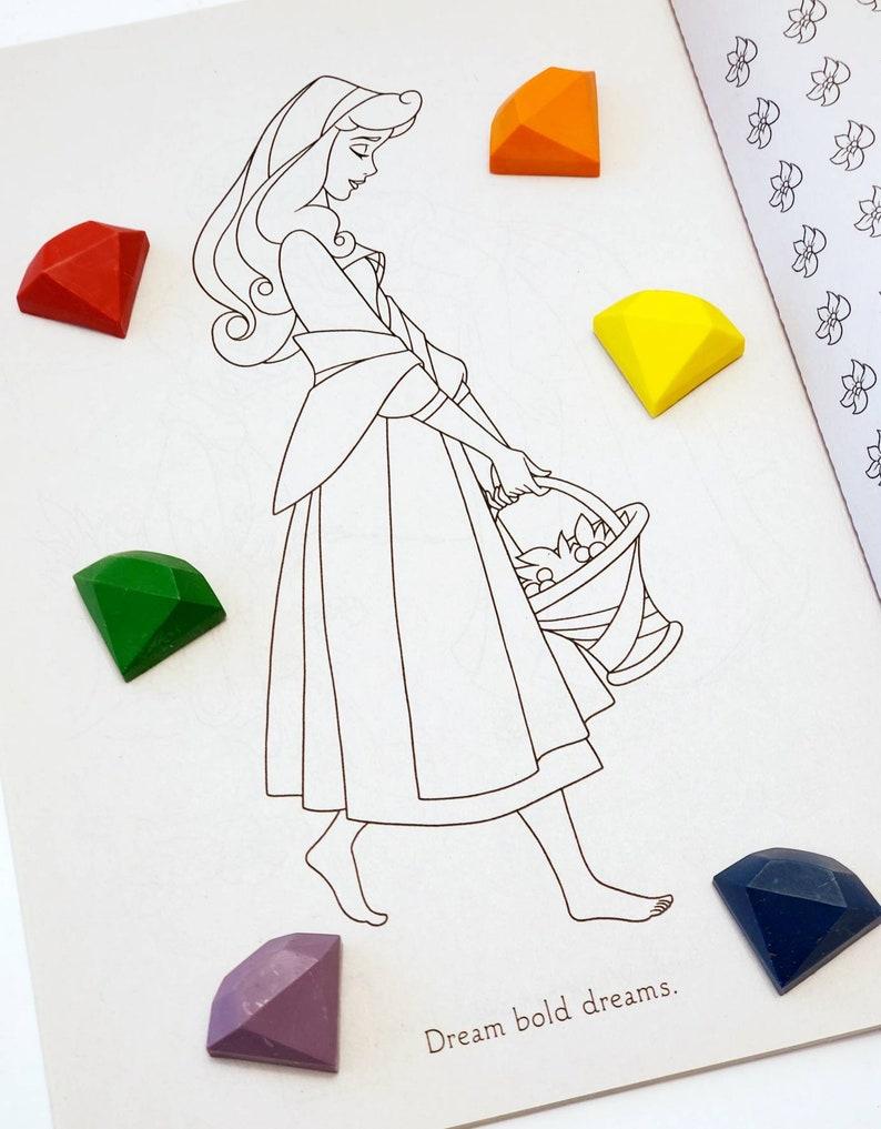 Set of 6 Handmade Crayons Diamond Jewel Crayons