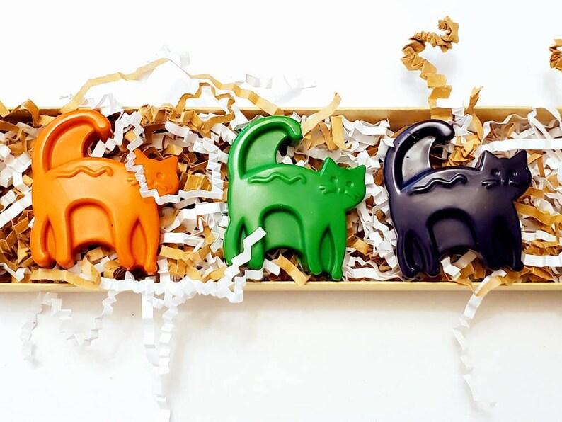 Set of 4 Handmade Crayons Cat Crayons