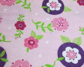 """Flannel Fabric - Girly Floral  - 30"""" REMNANT - 100% Cotton Flannel"""