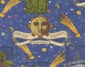 Cotton Fabric - Old Farmer's Almanac, Celestial Patch Quilting Cotton - Select Your Size or By The Yard - 100% Cotton Fabric