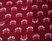 "Flannel Fabric - Fox Red - 23"" REMNANT - 100% Cotton Flannel"