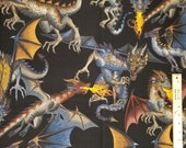 Tales Of The Dragon by Alexander Henry - 100% Cotton Fabric - Select Your Size or By The Yard