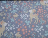 "Flannel Fabric - Baby Doe Floral - 23"" REMNANT - 100% Cotton Flannel"