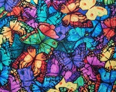 Packed Rainbow Butterflies - 100% Cotton Fabric - Select Your Size or By The Yard