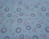 """Flannel Fabric - Whimsy Mint Sun Moon - 23"""" REMNANT - 100% Cotton Flannel"""