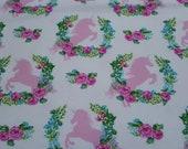 Flannel Fabric - Unicorn Spray - REMNANT - 100% Cotton Flannel