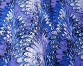 "Flannel Fabric - Swirl Purple Blue - 24"" REMNANT - 100% Cotton Flannel"