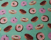 """Flannel Fabric - Tie Dye Donuts - 28"""" REMNANT - 100% Cotton Flannel"""