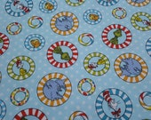 Character Flannel Fabric - Dr Seuss Tossed - REMNANT - 100% Cotton Flannel