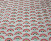 """Flannel Fabric - Rainbows - 24"""" REMNANT - 100% Cotton Flannel"""