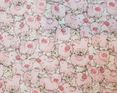 Watercolor Packed Pigs - 100% Cotton Fabric - Select Your Size or By The Yard