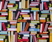 Cotton Fabric - Bookworm, Library, Teacher Quilt Cotton Fabric - Select Your Size or By The Yard - 100% Cotton Fabric for Sewing and Crafts