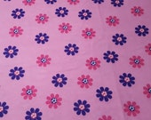 """Flannel Fabric - Floral Glow in the Dark - 33"""" REMNANT - 100% Cotton Flannel"""