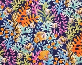 Ocean Fish Under The Sea In Seaweed And Plants - 100% Cotton Fabric - Select Your Size or By The Yard