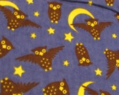 """Flannel Fabric - Hedwig Night Owls - 30"""" REMNANT - 100% Cotton Flannel"""