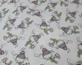 """Flannel Fabric - Balloon Friends - 32"""" REMNANT - 100% Cotton Flannel"""