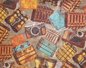 Travel Necessities - 100% Cotton Fabric - Select Your Size or By The Yard
