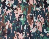 "Flannel Fabric - Digital Camo - 22"" REMNANT - 100% Cotton Flannel"