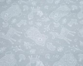 """Flannel Fabric - Forest Outline - 30"""" REMNANT - 100% Cotton Flannel"""