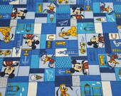 Character Flannel Fabric - Disney Mickey Friends True Pals - REMNANTS - 100% Cotton Flannel