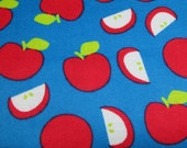 """Flannel Fabric - Apples - 26"""" REMNANT - 100% Cotton Flannel"""