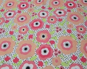 Flannel Fabric - Mimosa Daisies - REMNANT - 100% Cotton Flannel