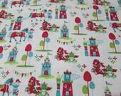 "Flannel Fabric - Magic Kingdom - 25"" REMNANT - 100% Cotton Flannel"