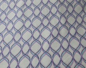 "Flannel Fabric - Purple Interlock - 23"" REMNANT - 100% Cotton Flannel"