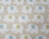 """Flannel Fabric - Elephant Taupe - 35"""" REMNANT - 100% Cotton Flannel"""