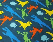"""Character Flannel Fabric - Good Dinosaur and Spot Toss - 18"""" REMNANT - 100% Cotton Flannel"""