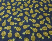 "Flannel Fabric - Pineapple Toss - 21"" REMNANT - 100% Cotton Flannel"