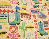 """Flannel Fabric - Route 66 - 25"""" REMNANT - 100% Cotton Flannel"""