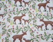 """Flannel Fabric - Petunia Deer - 28"""" REMNANT - 100% Cotton Flannel"""
