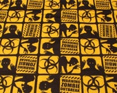 Flannel Fabric - Zombie Outbreak - REMNANT - 100% Cotton Flannel