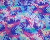 """Quilters Flannel Fabric - Tie Dye Classic - 23"""" REMNANT - 100% Cotton Quilters Flannel"""