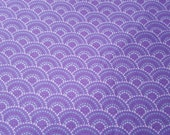 Flannel Fabric - Gypsy Dotted Scales Purple - REMNANT - 100% Cotton Flannel