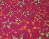 """Flannel Fabric - Musical Stars - 26"""" REMNANT - 100% Cotton Flannel"""