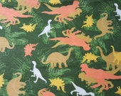 "Flannel Fabric - Dino Camo - 33"" REMNANT - 100% Cotton Flannel"