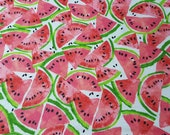 "Flannel Fabric - Watermelon Slices - 25"" REMNANT - 100% Cotton Flannel"