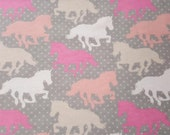 """Flannel Fabric - Giddy Up - 31"""" REMNANT - 100% Cotton Flannel"""