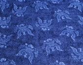 """Flannel Fabric - USA Eagle on Navy - 15"""" REMNANT - 100% Cotton Flannel"""