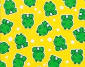 """Flannel Fabric - Lil Froggy - 22"""" REMNANT - 100% Cotton Flannel"""