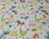 Flannel Fabric - Farmer Multi - REMNANT - 100% Cotton Flannel